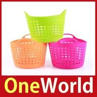 [One World] Portable Useful Mini Desk Plastic Organizer Decor Stationery Storage Basket Save up to 50%