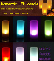 LED lights LED night holiday lights Sound Candle Free shipping