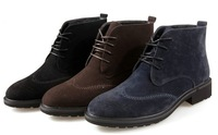 079 Brockden Winter New Fashion Suede Boots British Styles Men Nubuck Leather Short Ankle Boots Hot Selling