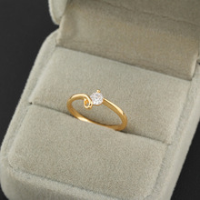 (KUNIU J0311) 18k Gold Plated Wedding CZ Ring , Free shipping
