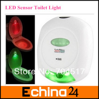 Free Shipping Hot Sale LED Human Sensor Lights Bathroom Flush Toilet Lamp Battery-Operated LED Sensor Toilet Light