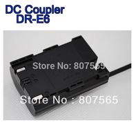 30 pcs DR-E6 DRE6 DC COUPLER For Camera CANON EOS 5D MARK II III ,EOS 7D,EOS 60D ACK-E6 adapter