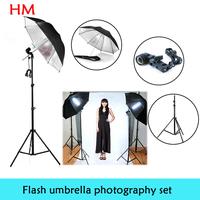 New 2014 photo stuido photography set  light  studio light  Photography lamp holder Black Silver Flash Reflector Studio Umbrella