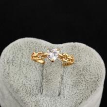 18k Gold Plated Heart Shape CZ Stone Love Finger Rings  (KUNIU J28271) FREE SHIPPING