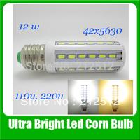 2013 Big Sale E26/E27/E14/B22 12W 110v / 220v Led Lighting 42leds 5630 Led Corn Bulb Light