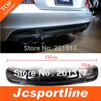 08-12 Carbon Fiber Black Car Rear Diffuser Lip With Dual Tips For BMW (Fits for  E82 135i M tech Bumper 08-12)