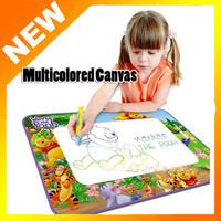 Hot Sell Multicolor Canvas Drawing Mat Drawing Toys Aquadoodle Drawing Mat 1 Mat+ 1 Magic Water Pens Free Shipping