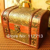 New arrival! Retro style handmade craft wood storage box crafts wood jewelry box case/ jewelry box european free shipping