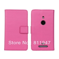 High Quality PU leather wallet/bag/case for Nokia Lumia 925 Pure color holster