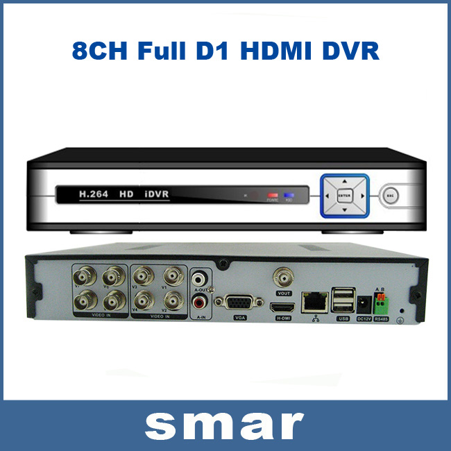 Hi3520 HDMI 8 Channel DVR Recorder H.264 Full D1 Recording HDMI+VGA Output With 4CH Audio Support P2P Cloud Android Phone View(China (Mainland))