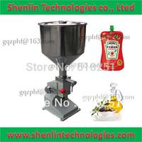 Filler manual small bottle filling machine,density oil bottling equipment,cream lotion water liquids paste beverage packing tool