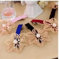 aristocratic temperament elegant fair maiden hollow-out flower hair accessories hair clip hair pin  24pcs/lot  free  shipping