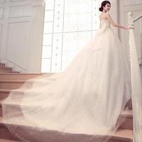 Mermaid Sweetheart Strapless Court Train Lace Up 2014 Luxury Elegant Real Sample Wedding Dress Custom