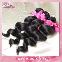 peruvian virgin Human hair extension loose wave 4bundles 6A unprocessed virgin hair weaves Free Shipping