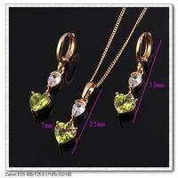 2014 fashion 18K Gold Plated Sweet Heart Shape Jewelry Sets, Free Shipping