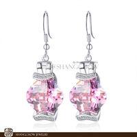 New! Stunning Fashion Jewelry Pink Kunzite 925 Sterling Silver Earrings E0327