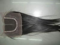 "Wholesale Middle parting closure lace 100% unprocessed Virgin Malaysia hair hand tied 10""-22"" 3pcks/lot,Queen Hair"