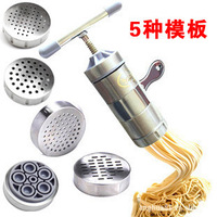 Stainless steel household noddle ejectorjuice extractor manual juicer family artisanal pasta machine hand food pressure equip