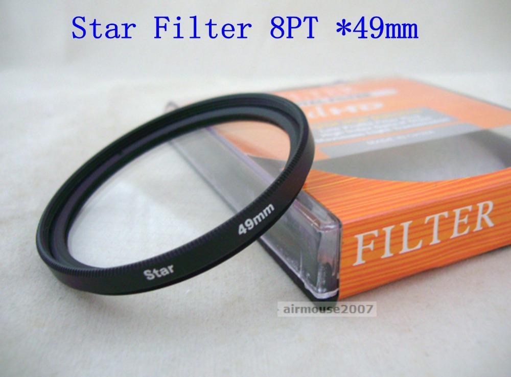 Star Cross Light Filter 49 49MM 8 Point 8PT For Camera Camcorder DSLR Lens Circular(China (Mainland))