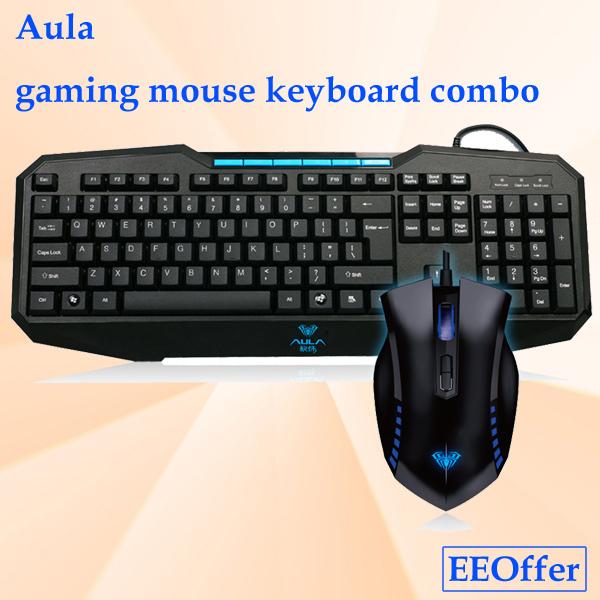 New arrival Aula professional gaming mouse keyboard combo tarantula usb wired laser mouse cfdota gaming keyboard(China (Mainland))