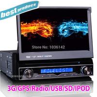 "Detachable 7"" 1 Din Car Electronics Universal Car Radio DVD Stereo with GPS/IPOD/TV/Bluetooth/USB/SD/PiP 7888"
