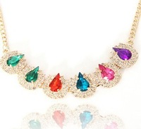 FREE SHIPPING 2013 new fashion necklace color Alloy Short necklace short chain necklace female clavicle necklace