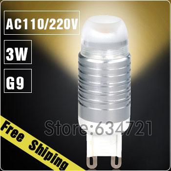 G9 3W White / Warm White AC110V/220V LED Light Lamp Bulb For 3W Crystal Light LED Spot Light Bulb Energy Saving Lamp