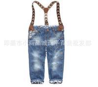 cp3 kids jeans brand 3-7 age denim overalls bone design boys pants 5pcs/ lot free shipping