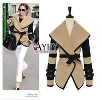 New Arrival Fashion Ladies Turn-down Collar Lapel Belted Coat Women Long Sleeve Jacket M-XXXL