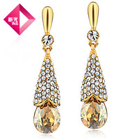 freeshippng brand Neoglory Original champagne gold plated fashion women earring crystal rhinestones Auden classic luxury earring