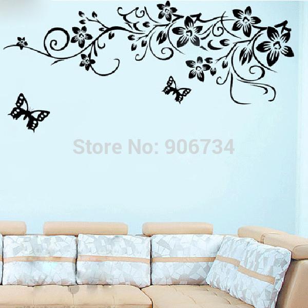 chambre à coucher et salon tv fond stickers muraux amovibles design beau modèle