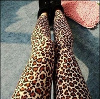 Free shipping Fashion Vintage Leopard Prints Leggings wholesale W3284