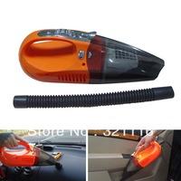 Free Shipping Portable Handheld Mini Car Vacuum Cleaner 12V Dry Wet Dual Purpose 100W Orange/ Green Colour