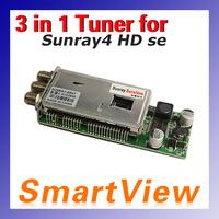 1pc sunray sr4 Triple Tuner  -T2 -C -S2 3 in 1 tuner  for Sunray4 HD se SR4 800HD se satellite receiver free shipping post