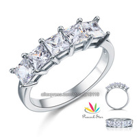 Five Stone 1.25 Carat Solid 925 Sterling Silver Wedding / Christmas Present Gift Ring CFR8072