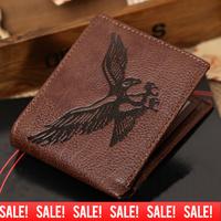2014 New Arrivel! Fashion Eagle Mens Bifold Clutch Leather Wallet Purse New Design Wallet Zipper Coffee Purse Free Shipping M01