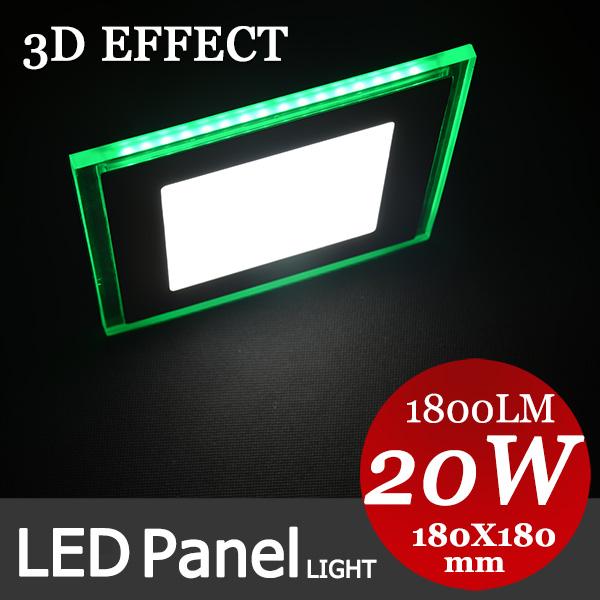 3d-effekt grün form 10W/15w/18w/20w led-panel-beleuchtung Platz downlight ac85-265v warm/kaltweiß, innenbeleuchtung