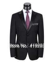 Best Seller Suit Coat Pant Black Men Suit Slim Fit Woolen Dress Suits Set S-4XL