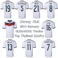 Top thailand quality 2014 Germany soccer jersey Climacool Version Embroidery Logo,Germany Football shirts Home white
