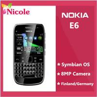 Nokia E6 E6-00 original unlocked Refurbished mobile phone GPS 8MP QWERTY Internal 8GB Singapore Post Free Shipping