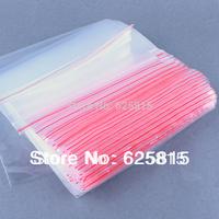 Hot New 100x 17x25cm Jewelry Ziplock Zip Zipped Lock Reclosable Plastic Poly Clear Bags 60-379