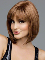 Heat Resistant Synthetic Bobo Blonde Short  Straight Hair Wigs for Women Wigs