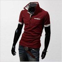 men T-shirts free shipping men's clothes Q01 short sleeve&long sleeve POLO shirts hot sale M L XL XXL!!