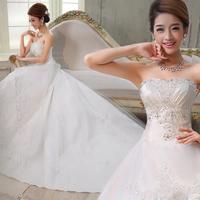 Winter 2014 winter princess train wedding dress bride bandage tube top wedding qi