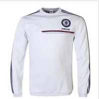+ + + top Thai version 13/14 Chelsea fleece Thailand quality torres white collar sweater long-sleeved fleece free shipping