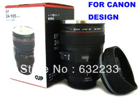 For Canon design 24-105mm 7th ed Black,Big lid with drinking piece stainless steel cup , original logo