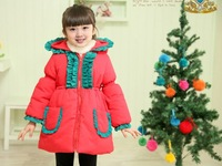 Children outerwear wadded jacket 2013 winter thickening  clothing cotton-padded baby outerwear female child cotton-padded jacket