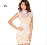 Women Fashion Lace Dresses  Hollow Out Sexy Vintage Dress Girl Party Dresses  Wholesale CL255