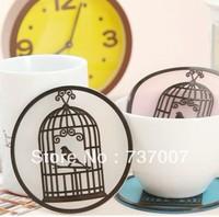 Transparent cage soft glue heat insulation cup mat mat cup eat mat mat phone