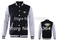 Diamond diamond male baseball uniform outerwear autumn and winter color block decoration baseball clothing jacket
